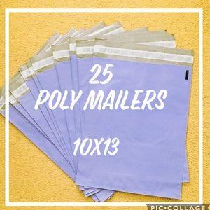 25 10x13 Purple Poly Mailers